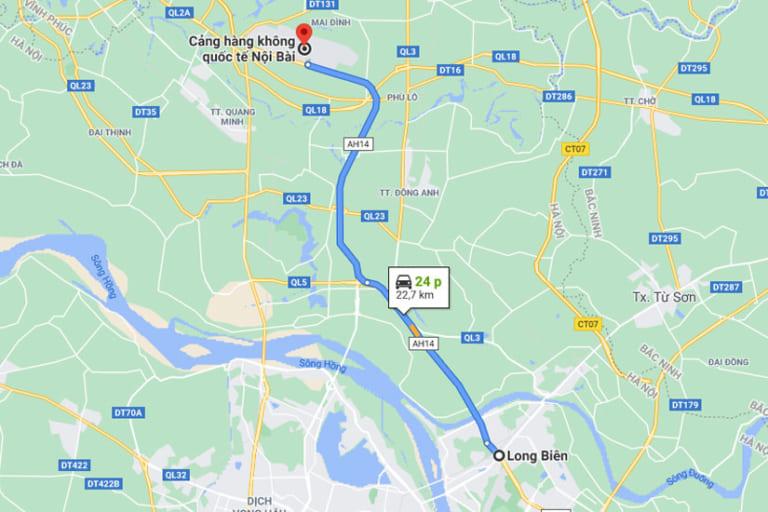 Taxi Nội Bài Về Quận Long Biên